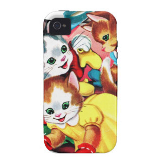 Cuddly Kittens Cats Vintage Kitsch coloring Book iPhone 4/4S Case