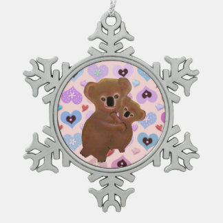 Cuddly Koala Bears Snowflake Ornament