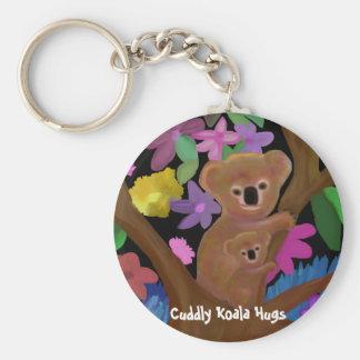 Cuddly Koala Hugs Keychains