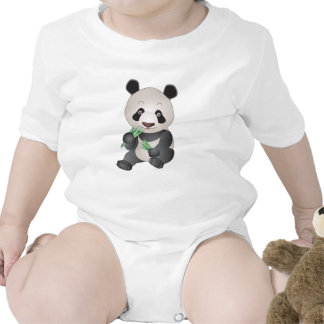 Cuddly Panda Baby Bodysuits