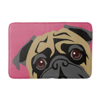 Cuddly Pug Bath Mat