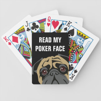 Cuddly Pug Bicycle Playing Cards