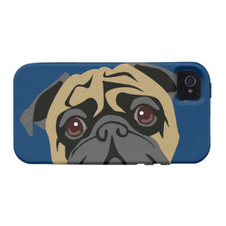 Cuddly Pug Case-Mate iPhone 4 Cases