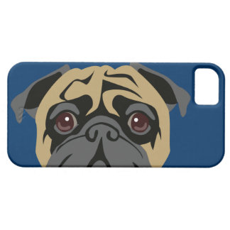 Cuddly Pug Barely There iPhone 5 Case