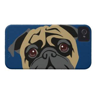 Cuddly Pug iPhone 4 Case-Mate Cases
