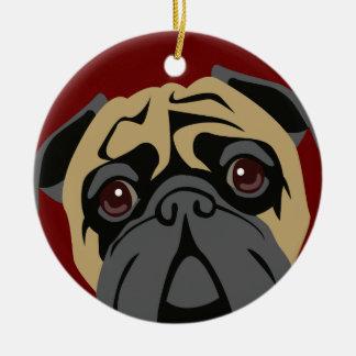 Cuddly Pug Christmas Ornament