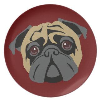 Cuddly Pug Dinner Plates