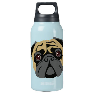 Cuddly Pug Insulated Water Bottle