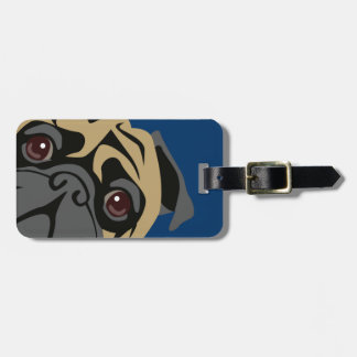 Cuddly Pug Luggage Tag