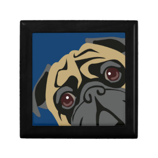 Cuddly Pug Small Square Gift Box
