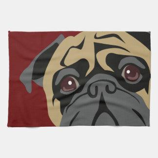 Cuddly Pug Tea Towel