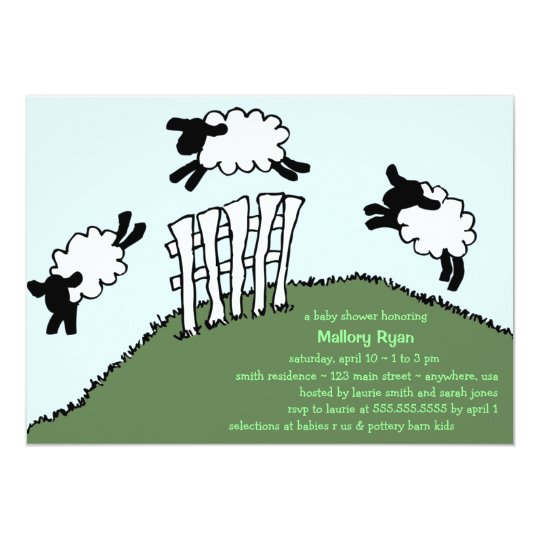 Cuddly Sheep Baby Shower Invitation