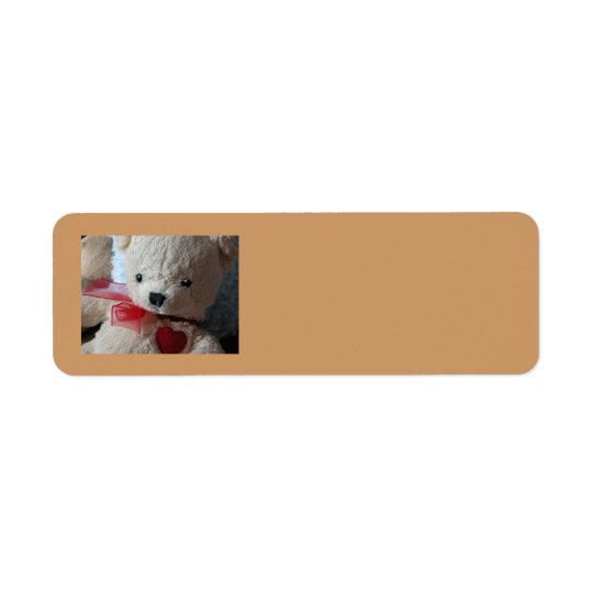 Cuddly Teddy Bear - return address label