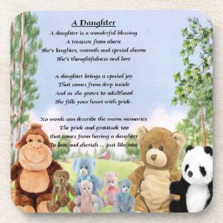 Cuddly Toys - Daughter Poem Coaster