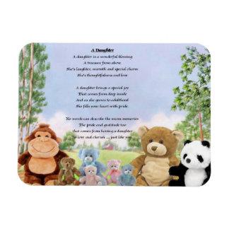 Cuddly Toys Daughter Poem Magnet