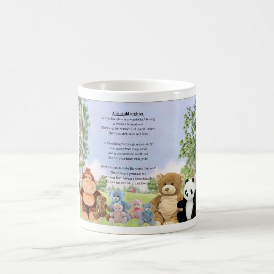 Cuddly toys Granddaughter Poem Coffee Mug