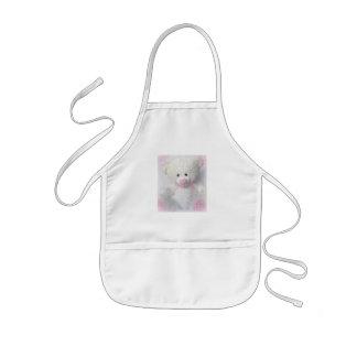 Cuddly White Teddy Bear Kids Apron