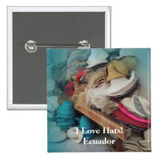 Cuenca Ecuador Hat Factory Customizable Text 15 Cm Square Badge
