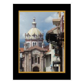 Cuenca Ecuador - Iglesia de San Blas w Faux Mat Postcard