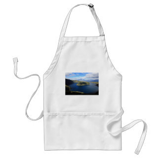 Cuicocha beautiful blue crater lake standard apron
