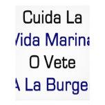 Cuida La Vida Marina O Vete A La Burger Flyer Design