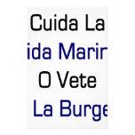 Cuida La Vida Marina O Vete A La Burger Custom Stationery