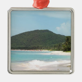 Culebra's Flamenco Beach Puerto Rico Christmas Tree Ornament