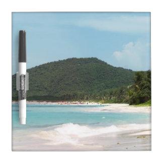 Culebra's Flamenco Beach Puerto Rico Dry Erase Whiteboards