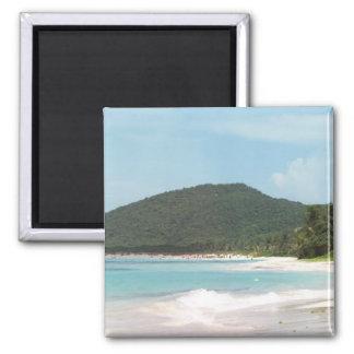 Culebra's Flamenco Beach Puerto Rico Fridge Magnets