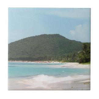Culebra's Flamenco Beach Puerto Rico Ceramic Tiles