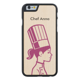 Culinary Baker Cake Decorator Chef Carved® Maple iPhone 6 Slim Case