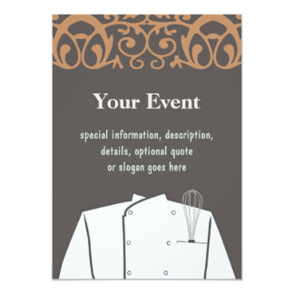 Culinary Chef Invitation