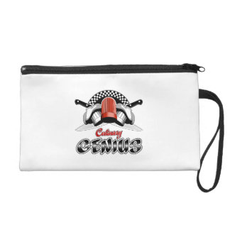 Culinary Genius: Crossed Chef Knives Wristlet