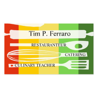 Culinary Gourmet Chef Business Cards