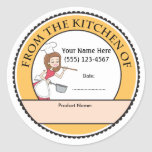 Culinary Personalised Baking Sale Labels Round Sticker