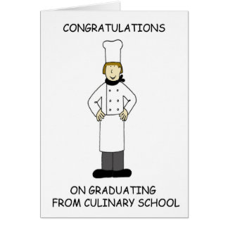 Culinary school lady graduate, congratulations. card