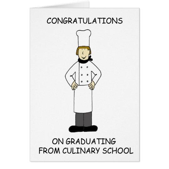 Culinary school lady graduate, congratulations. card