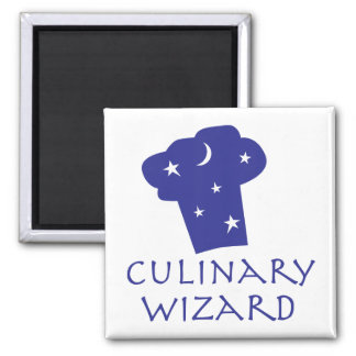Culinary Wizard Square Magnet