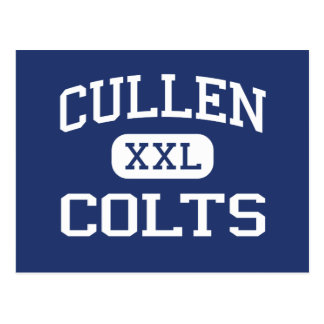 Cullen Colts Middle Corpus Christi Texas Postcard