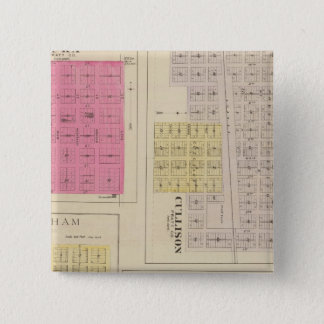 Cullison, Saratoga, Brenham, Kansas 15 Cm Square Badge
