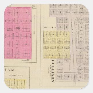 Cullison, Saratoga, Brenham, Kansas Square Sticker