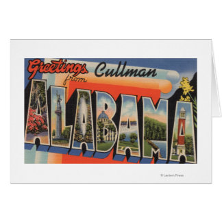 Cullman, Alabama - Large Letter Scenes Card