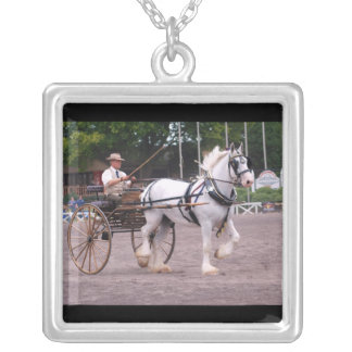 culpeper va draft horse show silver plated necklace