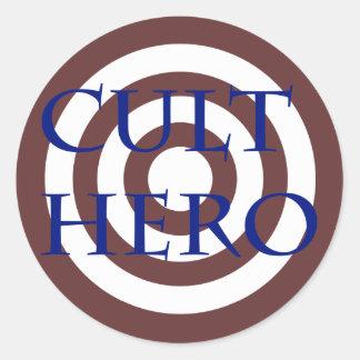 Cult Hero Round Sticker