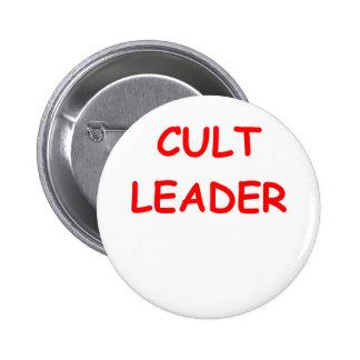 cult leader 6 cm round badge