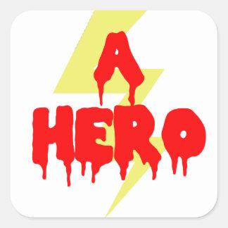Cult Movie Hero Square Sticker