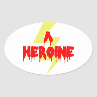 Cult Movie Heroine Oval Sticker