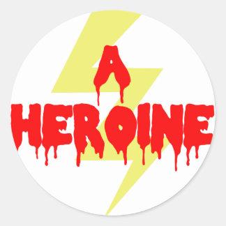 Cult Movie Heroine Round Sticker
