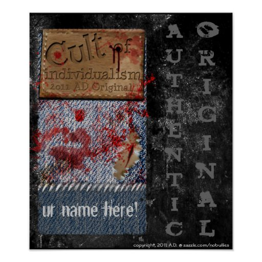 Cult of Individualism Authentic Original Poster
