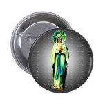 Cult Of Santa Muerte Pinback Buttons